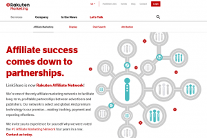 Rakuten Global 海外アフィリエイト、海外ASPアフィリエイト会社のリスト