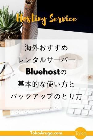 初めて海外のレンタルサーバーを借りてWordpressでブログを書く人向けに、Bluehostの基本的な使い方とバックアップのとり方を説明します。Bluehostはアメリカの女性ブロガーもおすすめするブログを本気ではじめるならとりあえずこれ使っといたら大丈夫!というサーバーです。