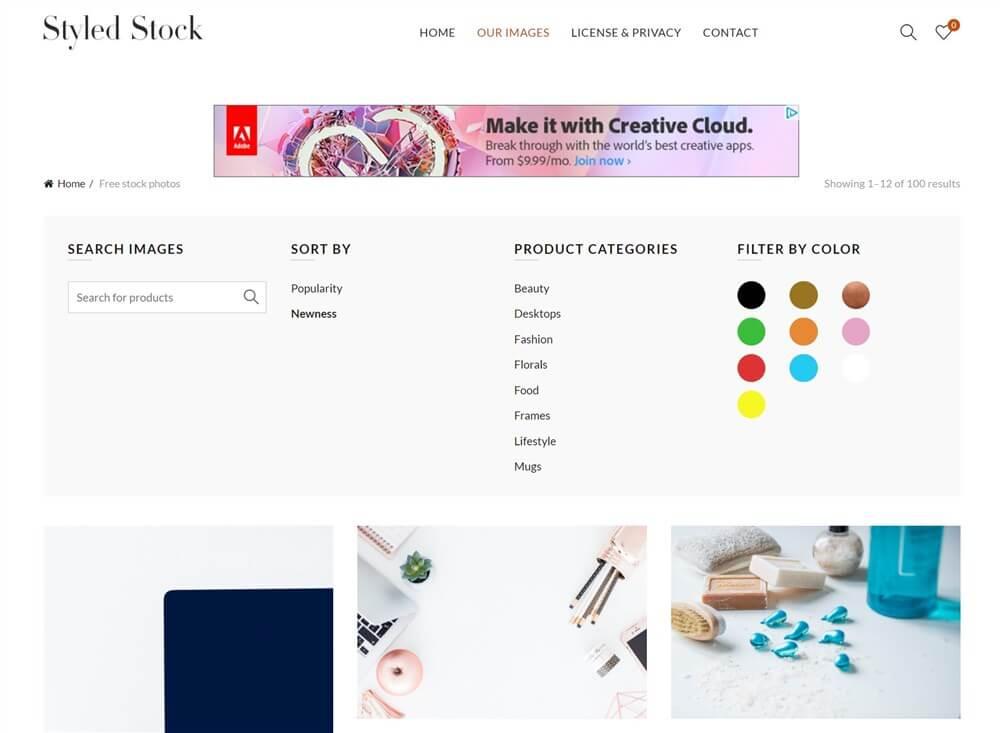 海外のおしゃれ画像のフリーサイト。Styled Stock